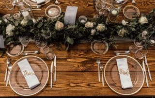 table setting wedding majorca